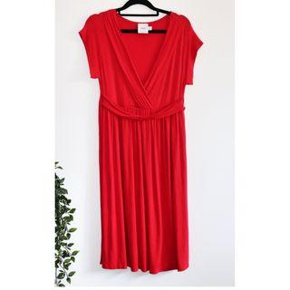 ASOS Red Stretchy Maternity Dress - Size 12 L