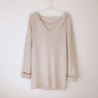 *as NEW* knit hood dress top size S