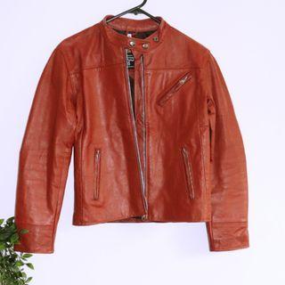 Gino Giorgio Vintage Red LeatherJacket - Size 8 XS