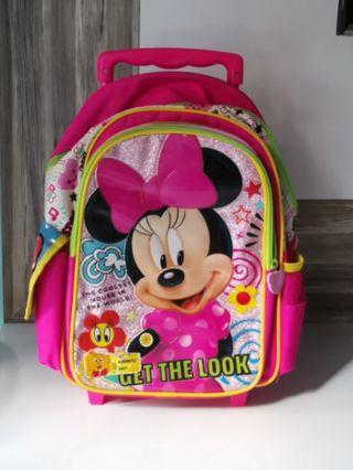 Trolley School Bag (Minnie Mouse)