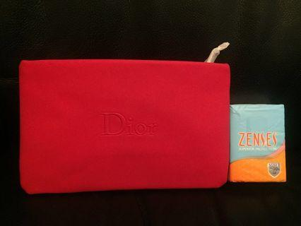 Dior makeup pouch 化妝袋 (red)