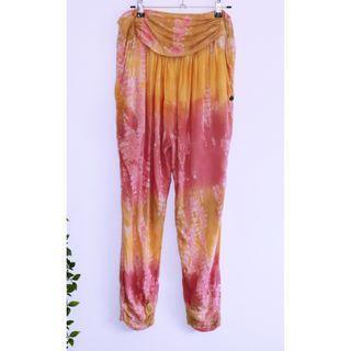 Billabong Pink & Orange hippie tie dye pants - Size 8 S