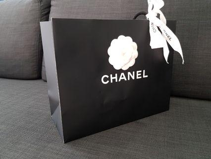Authentic chanel paperbag
