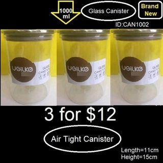 Container - Canister - Brand New - 3 Pieces $12 - 1000ml
