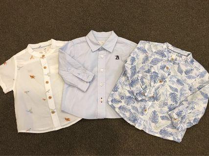 Zara Baby Boy Shirts 3-6months