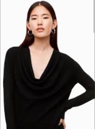Aritzia BABATON merino wool draped sweater XXS