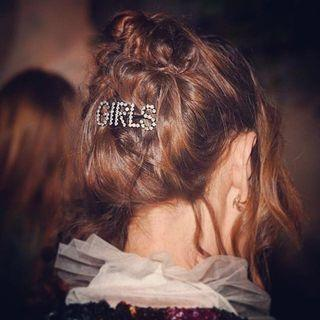 "Alexa Chung It-Girl ""GIRL"" Rhinestone Hair Clips Pins"