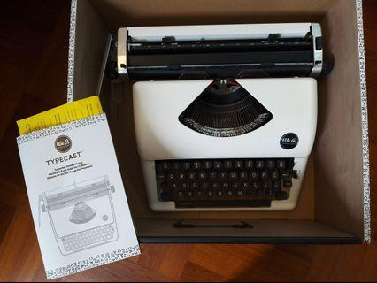 🚚 Great deal, almost new Typecast typewriter we r keepers $270. (With 3 ribbons its $320, plus theres a ribbon in the typewriter for free))