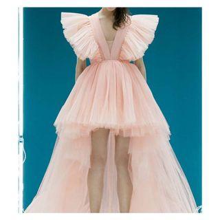 拖尾薄紗洋裝