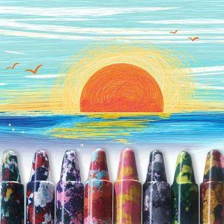 兒童多彩水溶性蠟筆