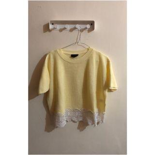 Topshop yellow knit tees