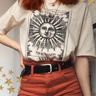 oversized graphic vintage beige tee tshirt streetwear hypewear