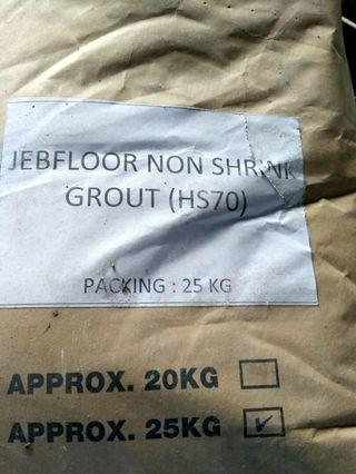 Warehouse clearance~non shrink grout