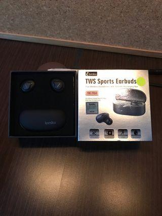 Iyesku TWS Sports Earbuds with 500mAh Recharging Box, YK-T02