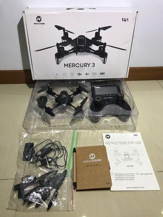 Holy Stone HS230 RC Racing FPV Drone with 120° FOV 720P HD Camera Live Video 45Km/h High Speed Wind Resistance Quadcopter with 5.8G LCD Screen Real Time Transmitter (Mercury 3)