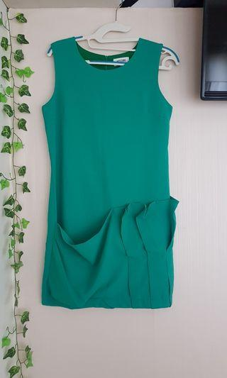 Moschino Green office dress w pocket details