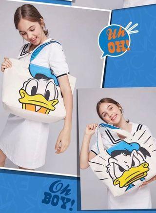 Donald duck 唐老鴨 前後不同樣 tote bag