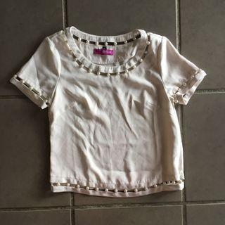 Dress Up White Pearl Top