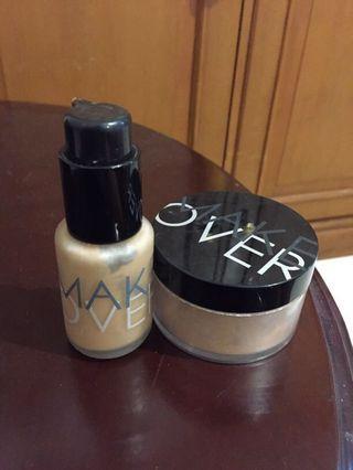 Make Over Foundation (05) & Make Over Bedak Tabur