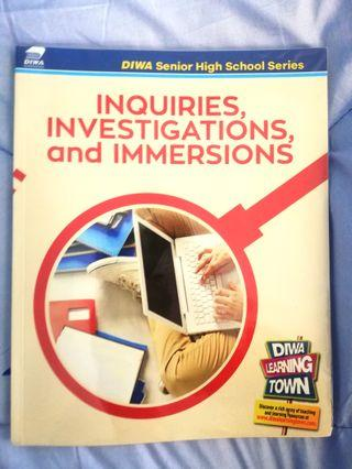 (Brand New!!) K-12 Justified Inquiries, Investigations, and Immersions