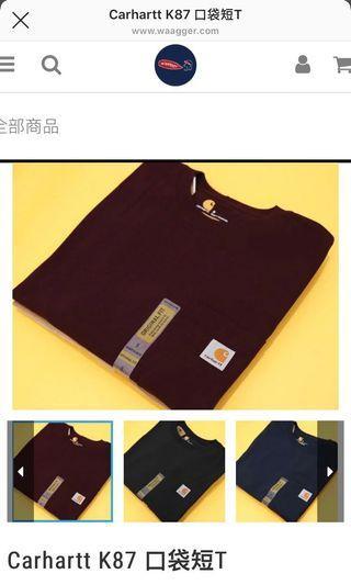 🚚 Carhartt K87 口袋短T