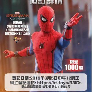 Hot toys 首日單 Spider-Man Far From Home 6月9日單 Spiderman movie promo Limited 1000 edition