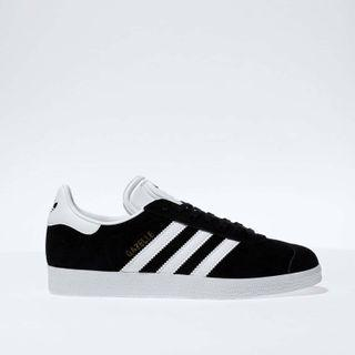 Adidas Black and White Gazelle Trainers