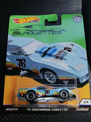 Hot Wheels Silhouettes Car Culture 1976 Greenwood Corvette