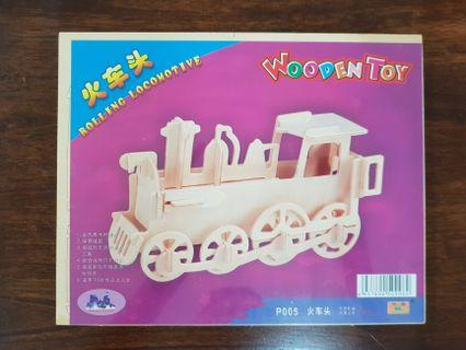 Wooden toy puzzle - train