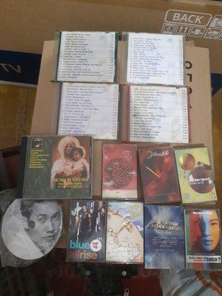 (Jual 2nd) kaset, cd lagu, dan cd rohani