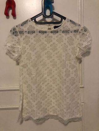 Blouse wanita lace putih