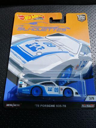 Hot Wheels Silhouettes Premium Car Culture 1978 Porsche 935-78