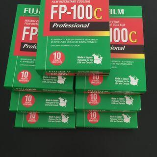 Fuji FP-100C peel apart colour film, 7 packs