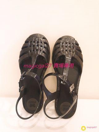 巴西Zaxy黑色涼鞋 約9成新