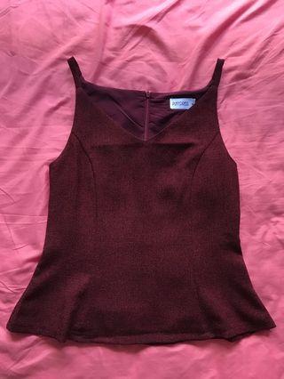Playdress maroon top