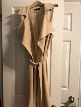M Sleeveless Waterfall Duster