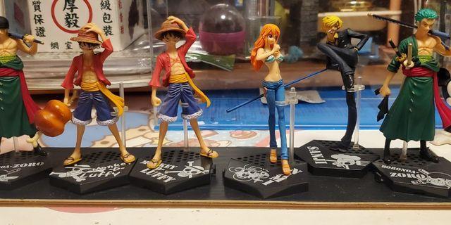 海賊王 one piece 扭蛋 一套六隻 連兩隻特別版 不散買