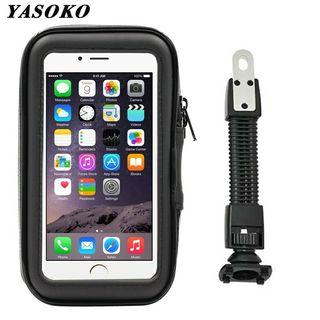 Motorcycle Phone Holder Stand Bike Scooter Handlebar Waterproof Bag