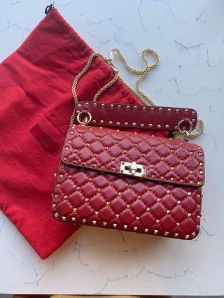 VALENTINO Rockstud Spike Medium Shoulder Bag