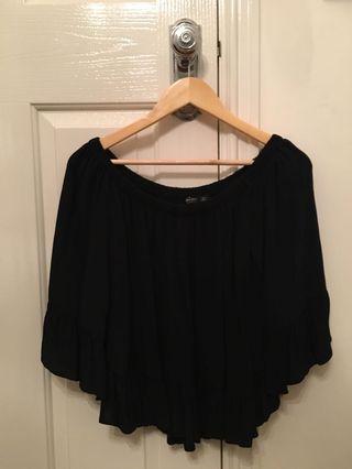 Black fringe top Zara