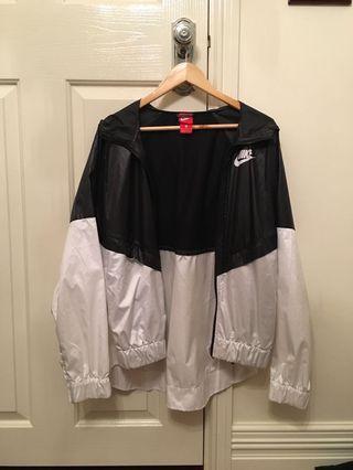 nike black & white zip windbreaker