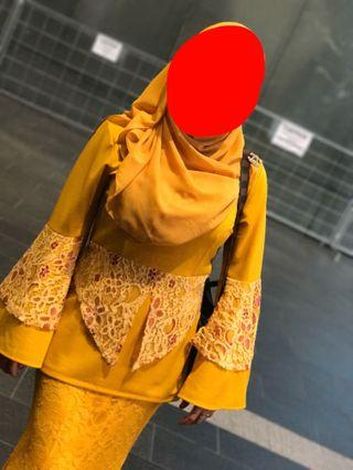 Baju Raya 1set mustard