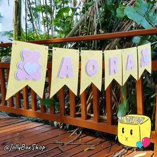 🚚 Handmade Cute Baby Bear Pop Up Effect Bunting Banner For Baby Shower or Birthday Theme Party #BuntingBanner #SGSeller #PartyDecorations