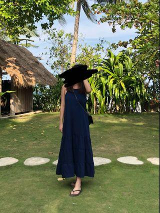 Hollyhoque Navy blue Maxi dress