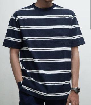 Kaos garis kaos striped loose fit