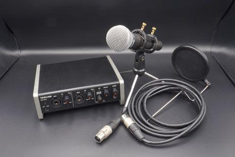 🚚 Shure SM58 & Tascam US-2x2 動圈式指向性人聲麥克風 USB 錄音介面 直播