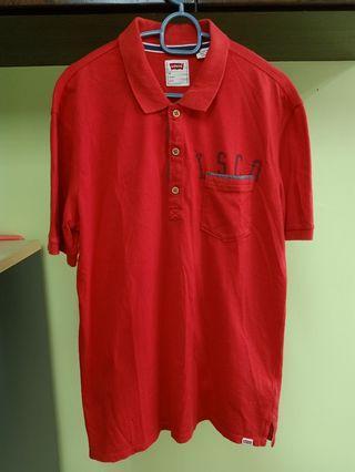Baju Levis tshirt colar