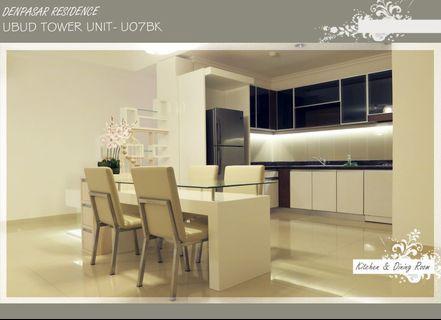 Di Sewakan Apartemen Denpasar Residence tower  Ubud 125 sqm 3 BR