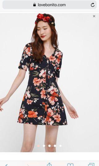 🚚 Love bonito Liani Floral Printed Button Down Dress