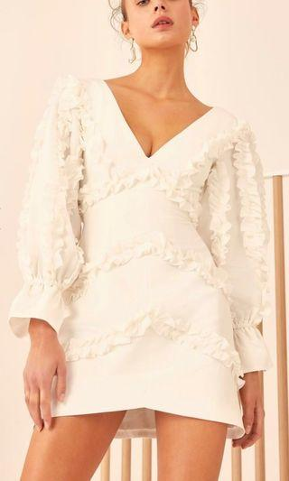 C/MEO COLLECTIVE all white dress